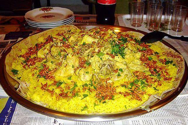 Вкусное блюда из баранины и риса.