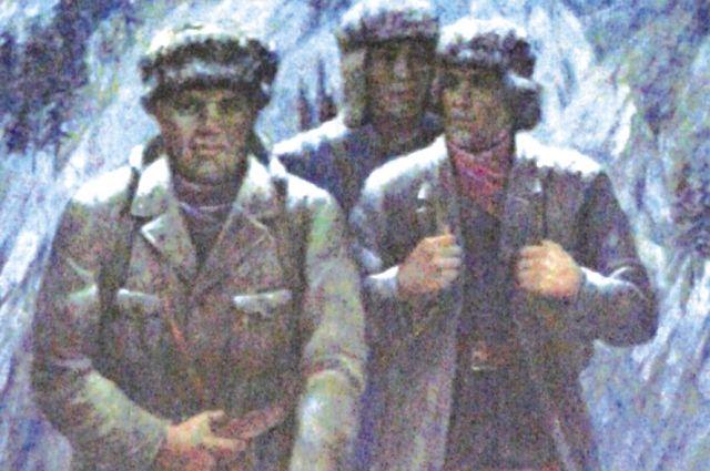Картина Григория Фролова «Три изыскателя» была написана в 1971 году.