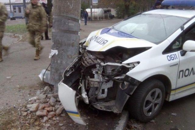 НаБогдана Хмельницкого экипаж патрульной милиции попал вДТП: пострадавших нет
