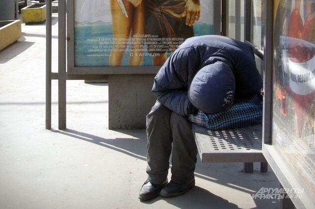 В холода бездомным негде укрыться.