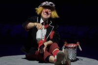 Олег Попов на премьере новой цирковой программы «Пусть всегда будет солнце». 2016 год.