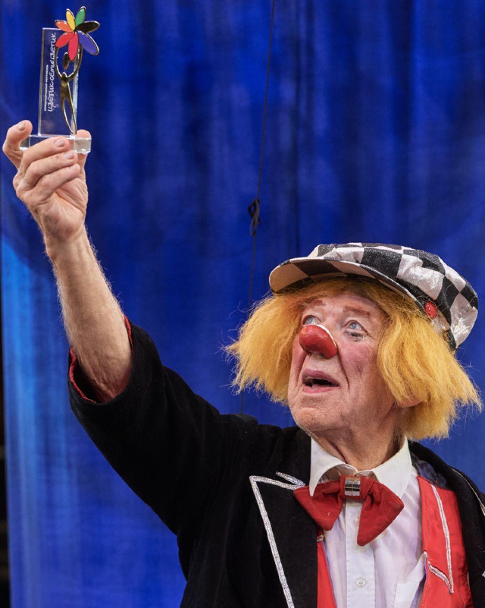 Олег Попов на арене цирка Чинизелли в Санкт-Петербурге. 2016 год.