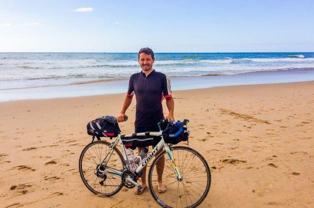 Виталий Климов преодолевал в среднем 150 км и сжигал пять тысяч калорий в день.