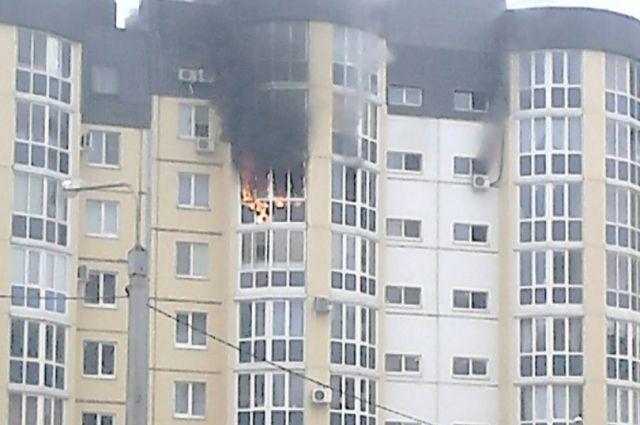 ВДзержинском районе Волгограда зажегся высотный многоэтажный дом
