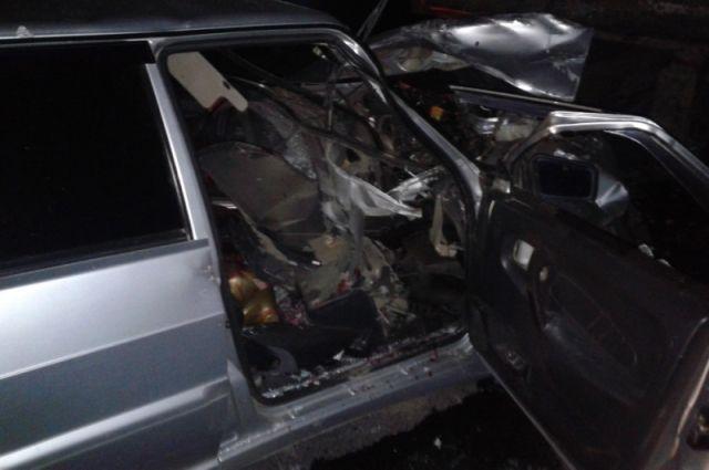 Под Оренбургом водитель машины «Fiat» не справился с управлением.