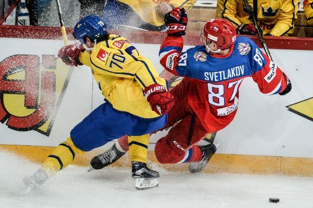 Сборная Российской Федерации обыграла команду Швеции вовтором матче Кубка Карьяла
