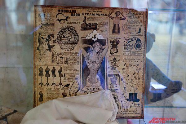 На выставке предоставлены экспонаты краеведческого музея, Государственного архива Пермского края и библиотеки имени Горького.