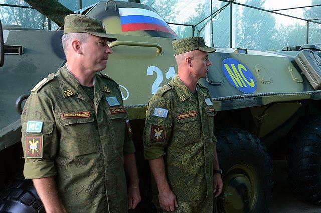 Российские миротворцы в Приднестровье.