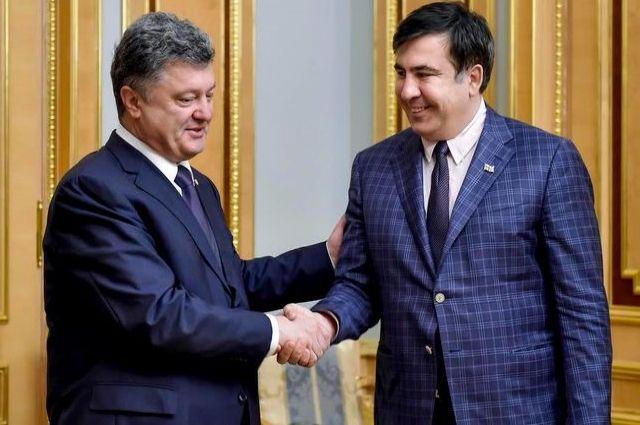 Петр Порошенко и Михэила Саакашвили