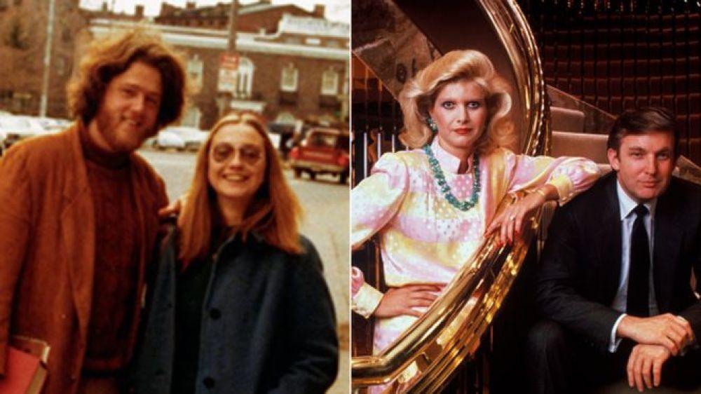 На этом фото Хиллари со своим мужем Биллом, которого она встретила в Йельской школе права. Дональд же встретил свою жену в 70-х годах, когда она переехала в Нью-Йорк