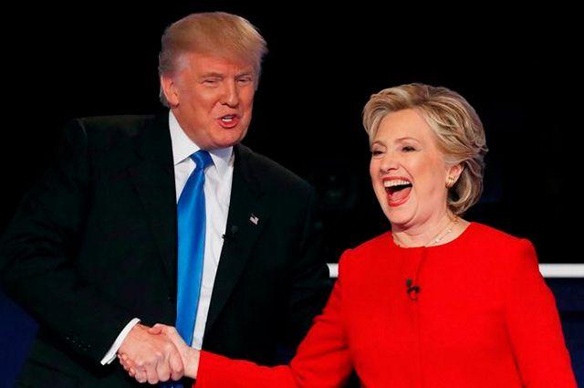 Дональд Трамп и Хиллари Клинтон. Такой скандальной пары американские выборы ещё не знали.