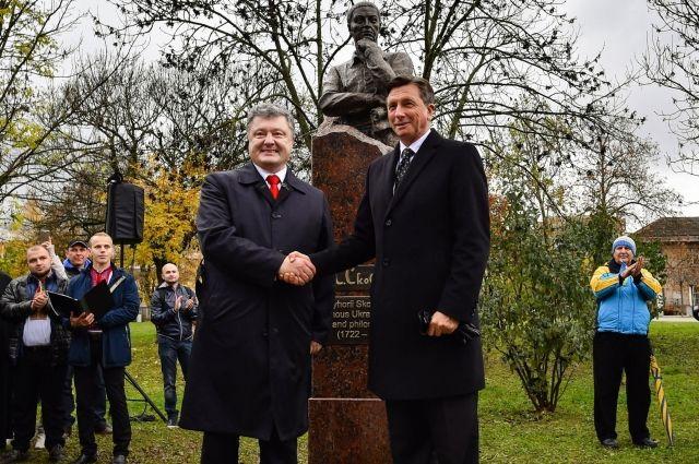 Порошенко открыл вЛюбляне монумент Григорию Сковороде