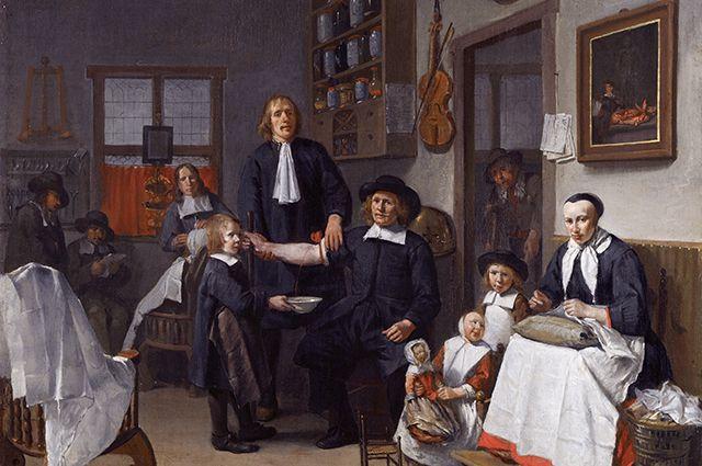 «Кровопускание», Эгберт ван Хемскерк, 1669 г.