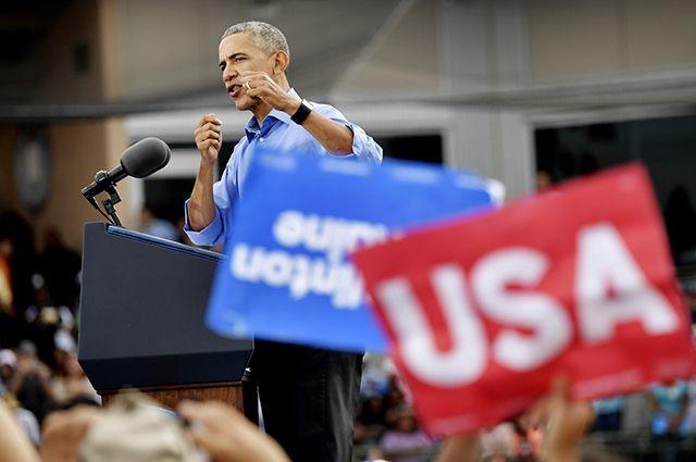 Барак Обама во время электоральной кампании 2012 года.