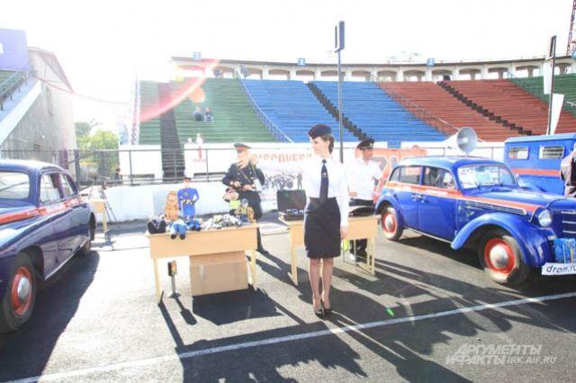 Основная часть выставки посвящена становлению и развитию советской милиции.