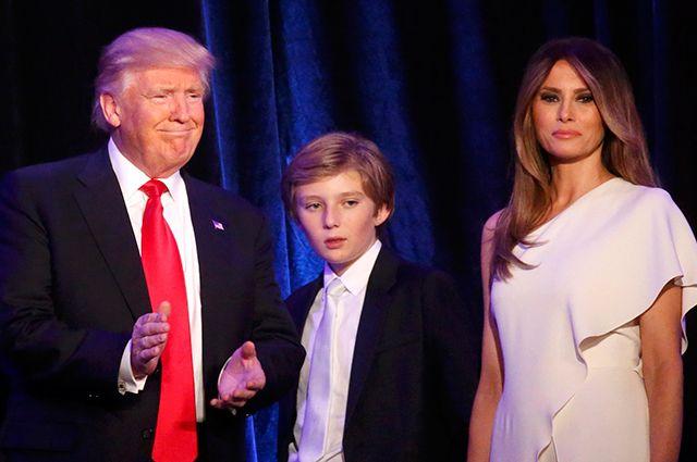 Дональд Трамп с семьей.