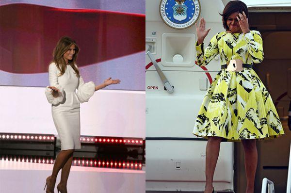 Возможно, супруга Дональда хочет быть более элегантной и нежной на публике, раз так часто выбирает белый цвет. Мишель же любит эксперементировать