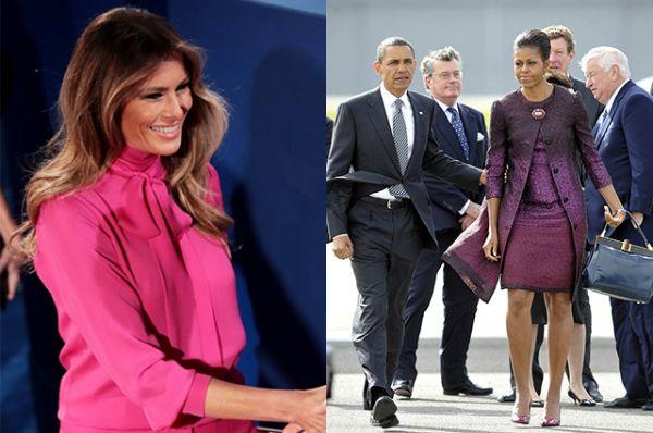 Оба наряда от Мелании и Мишель выглядят очень ярко