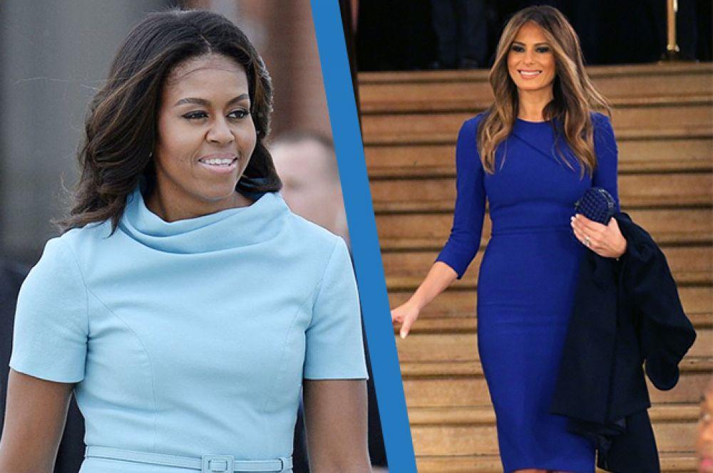 Пока не состоялась инаугурация Дональда, здесь вы сможете увидеть, во что одевается первая леди США Мишель Обама и будущая первая леди - Мелания Трамп