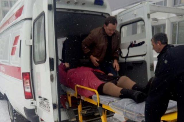Пенсионерка травмировала ногу накрыльце здания мэрии Красноярска