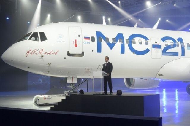 1-ый испытательный полет самолета МС-21 назначен на февраль-март 2017-ого года