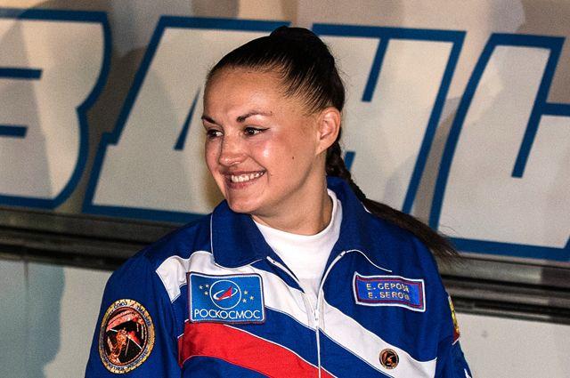 Елена Серова на космодроме «Байконур».