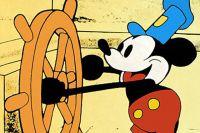 Микки Маус в мультфильме «Пароходик Вилли».