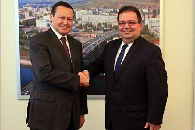Эдхам Акбулатов встретился с послом республики Кипр в России.