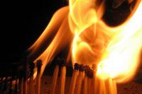 Пожар возник в результате неосторожного обращения с огнем.