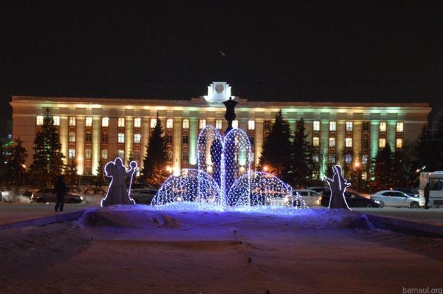 Барнаул выделил 8,6 млн руб. наснежный городок пл.Сахарова