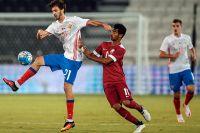 Товарищеский матч между сборными командами России и Катара.