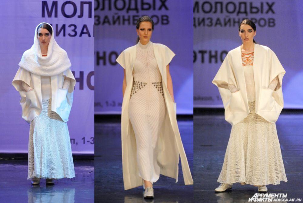 «Этномотивы в современной одежде». 1 место - коллекция «Белая река» ( Лариса Свечкарева и Светлана Кужба).