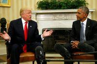 Встреча Трампа и Обамы в Овальном кабинете Белого дома. 10 ноября 2016 г.