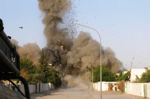 Исламские террористы изгруппировки обстреляли деревню вИраке снарядами схлором