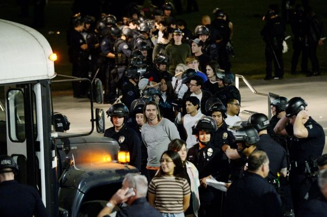 Протесты вСША: вЛос-Анджелесе задержали 150 митингующих