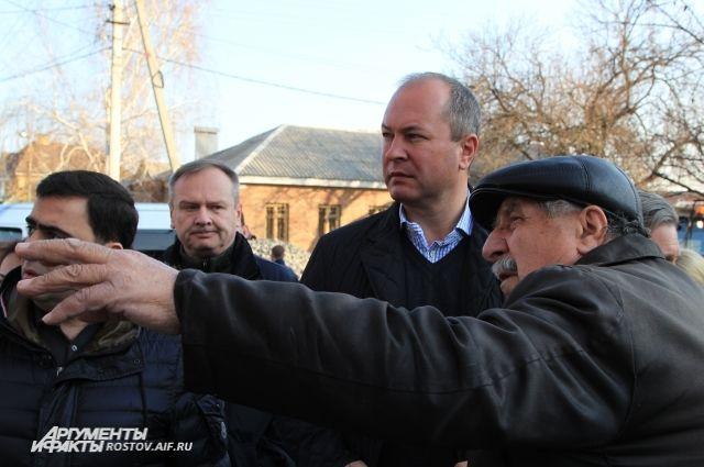 Первый объезд по городу нового главы администрации Ростова-на-Дону Виталия Кушнарёва