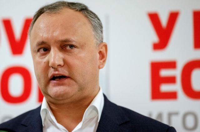 игорь додон объявил победе выборах президента молдавии