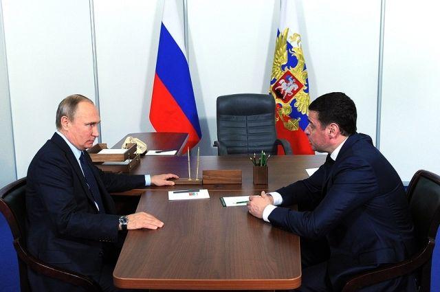 Путин обсудил направления реализации потенциала Ярославской области сврио губернатора
