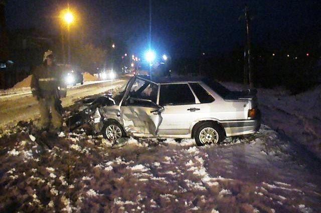 ВЩекино столкнулись два авто, имеется пострадавший