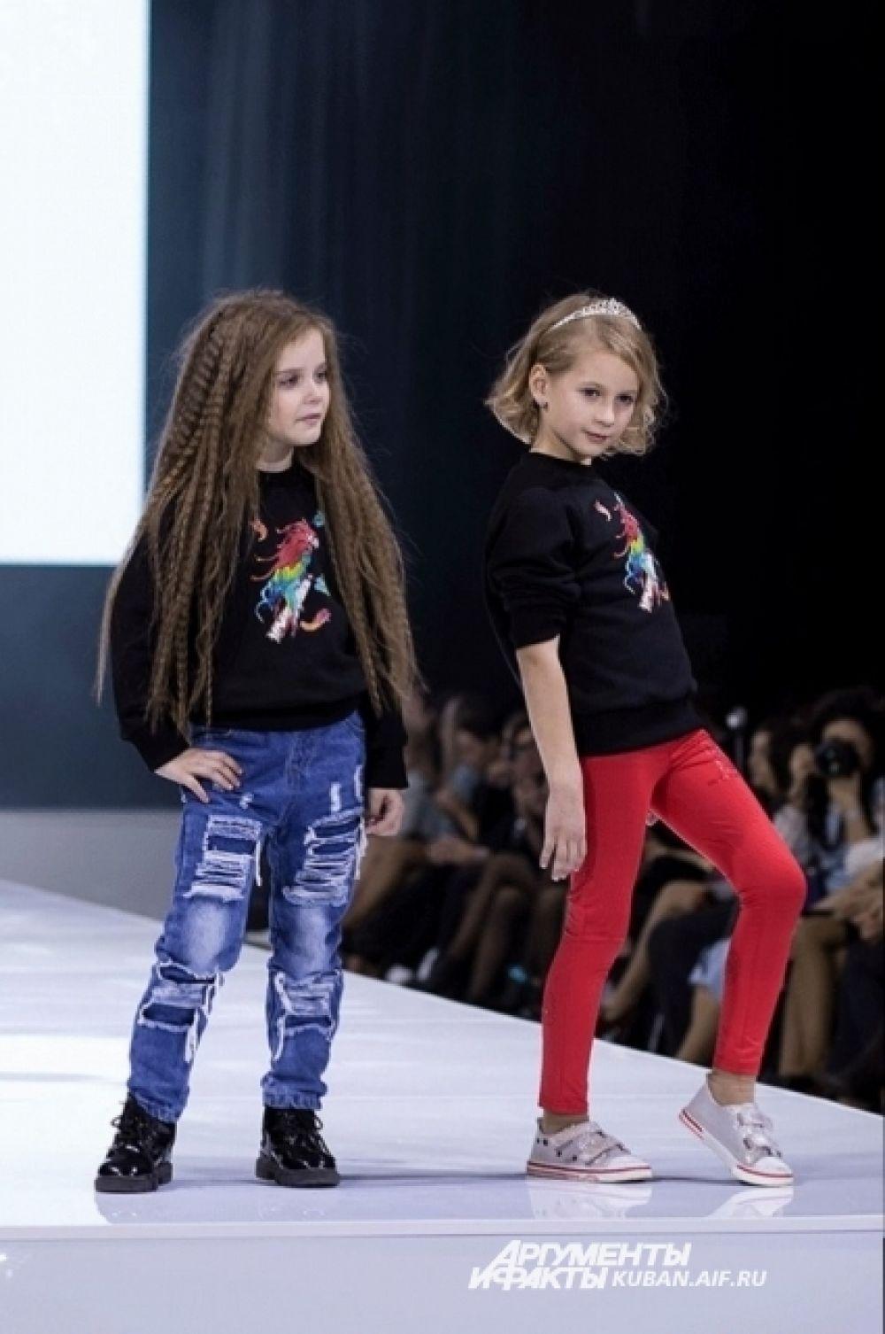 Были представлены и модели для детей.