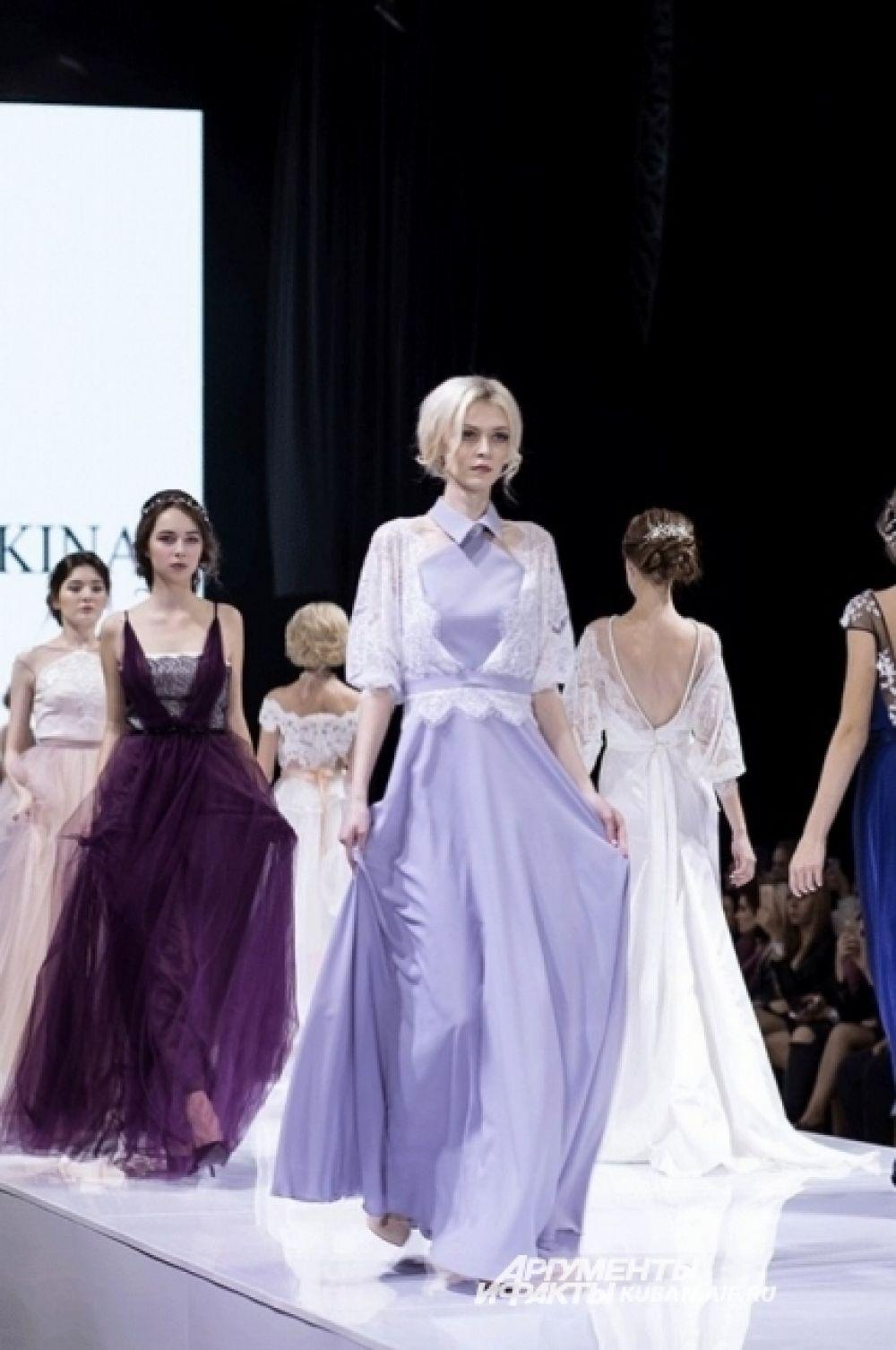 Вечерние платья от краснодарских дизайнеров Екатерины Мощевикиной и Зои Нагорной.