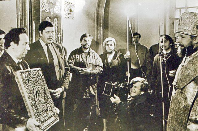 Александр Аввакумов вернул похищенную икону в Петропавловский собор.