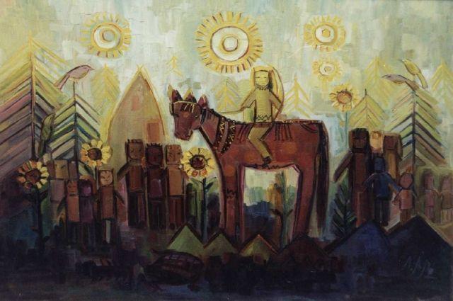 В детстве для маленькой Любы лошадь Красотка была и «богатырским конем», и лучшей подругой, поэтому она до сих пор главная героиня на картинах художницы.
