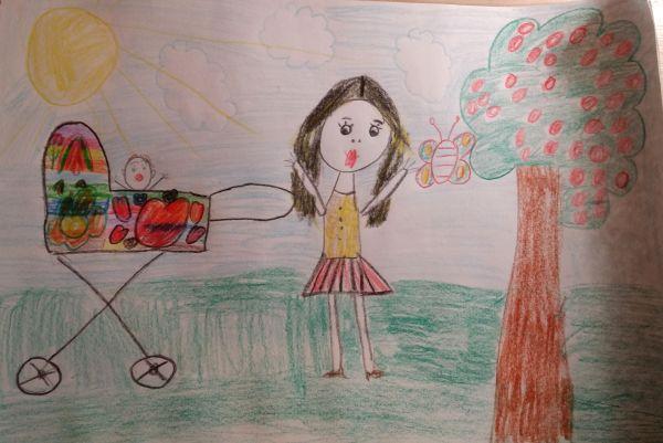 Участник №6. «У моей мамы длинные ресницы. Ее зовут Камилла. У моей мамы недавно родился малыш. Моя мама вкусно готовит блины. Моя мама добрая, и она нас любит».