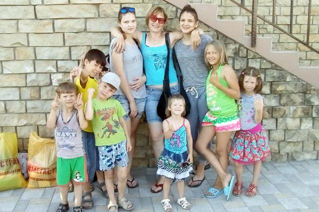 Оксана Рыжкова - мать одиннадцати детей.