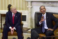 Дональд Трамп и Барак Обама.