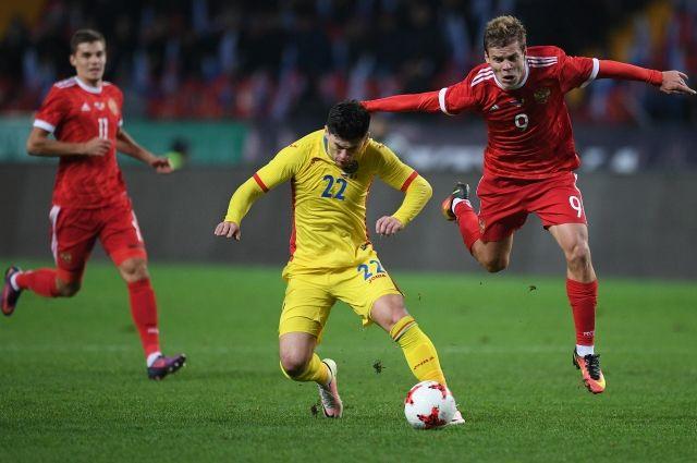 Русские футболисты вырвали победу вматче сРумынией