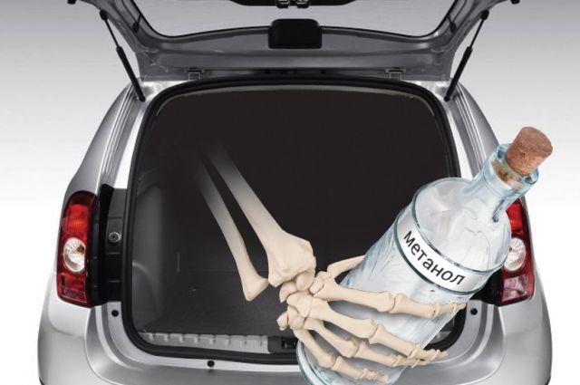 Контрафактный алкоголь продают часто просто из багажников машин.
