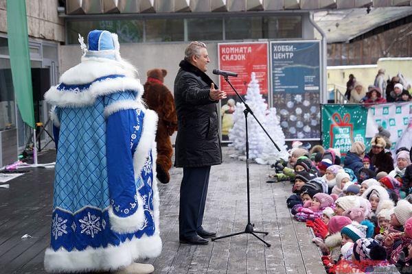 После чего к микрофону подошёл министр культуры Пермского края Игорь Гладнев.