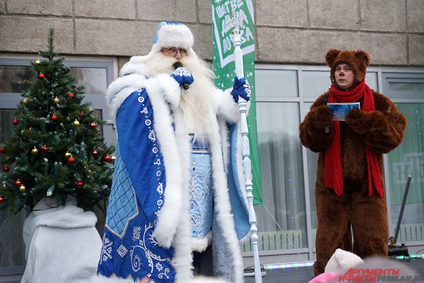 Однако сперва перед зрителями выступил пермский Дед Мороз.